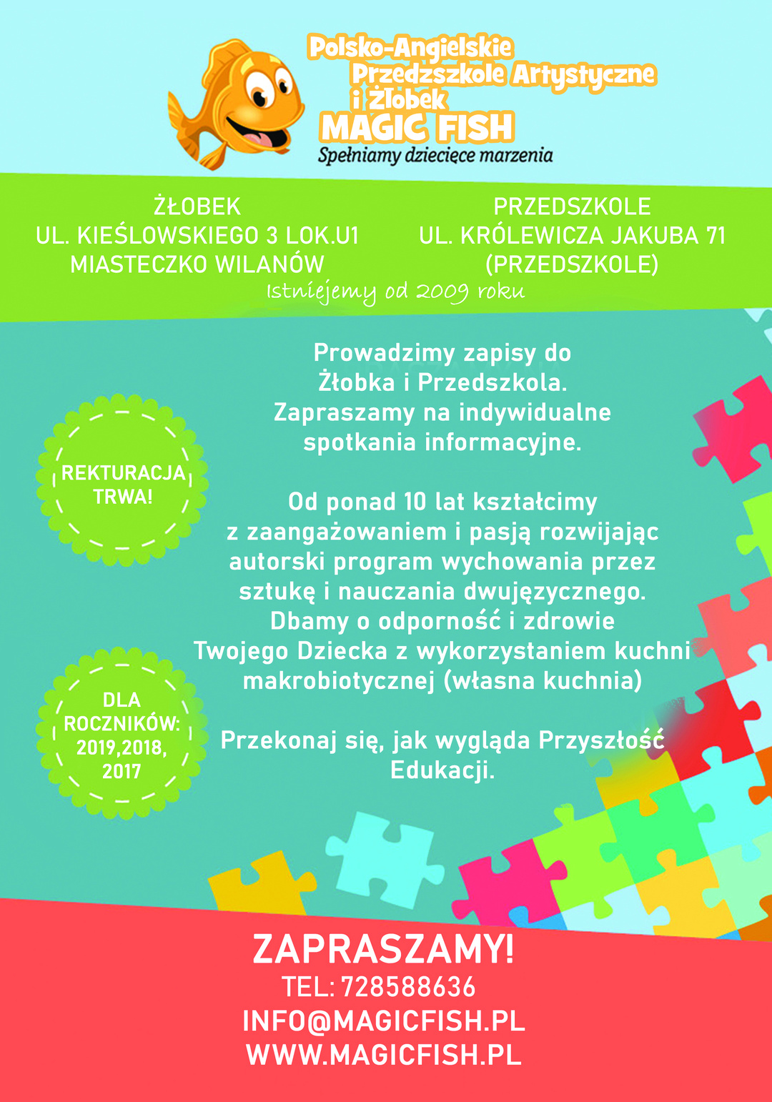 Page 10 of Polsko-angielskie przedszkole artystyczne i żłobek Magic Fish