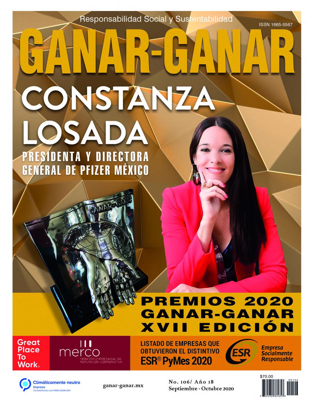 Page 1 of Editorial Revista Ganar Ganar edición 106 septiembre - octubre 2020