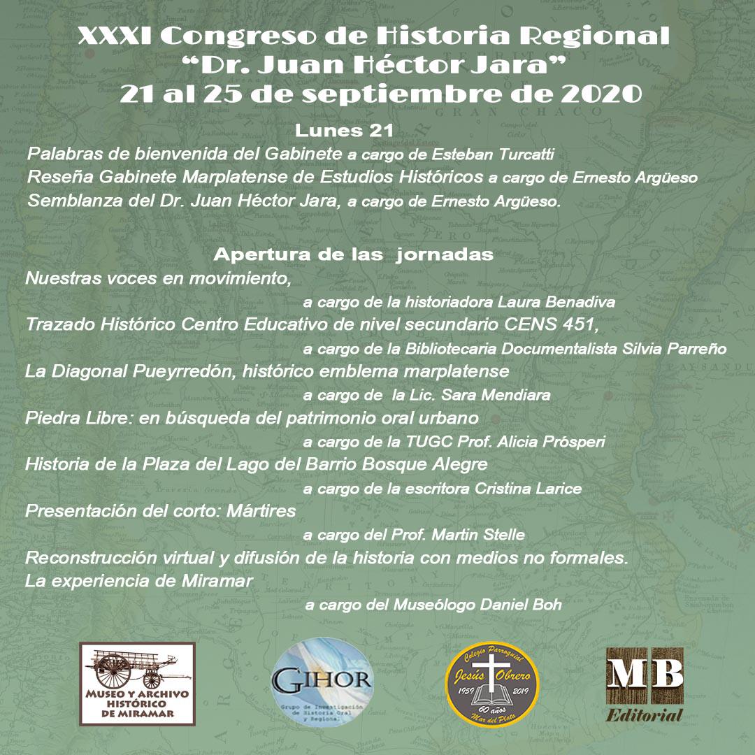 Page 2 of XXXI Congreso de Historia Regional de Mar del Plata