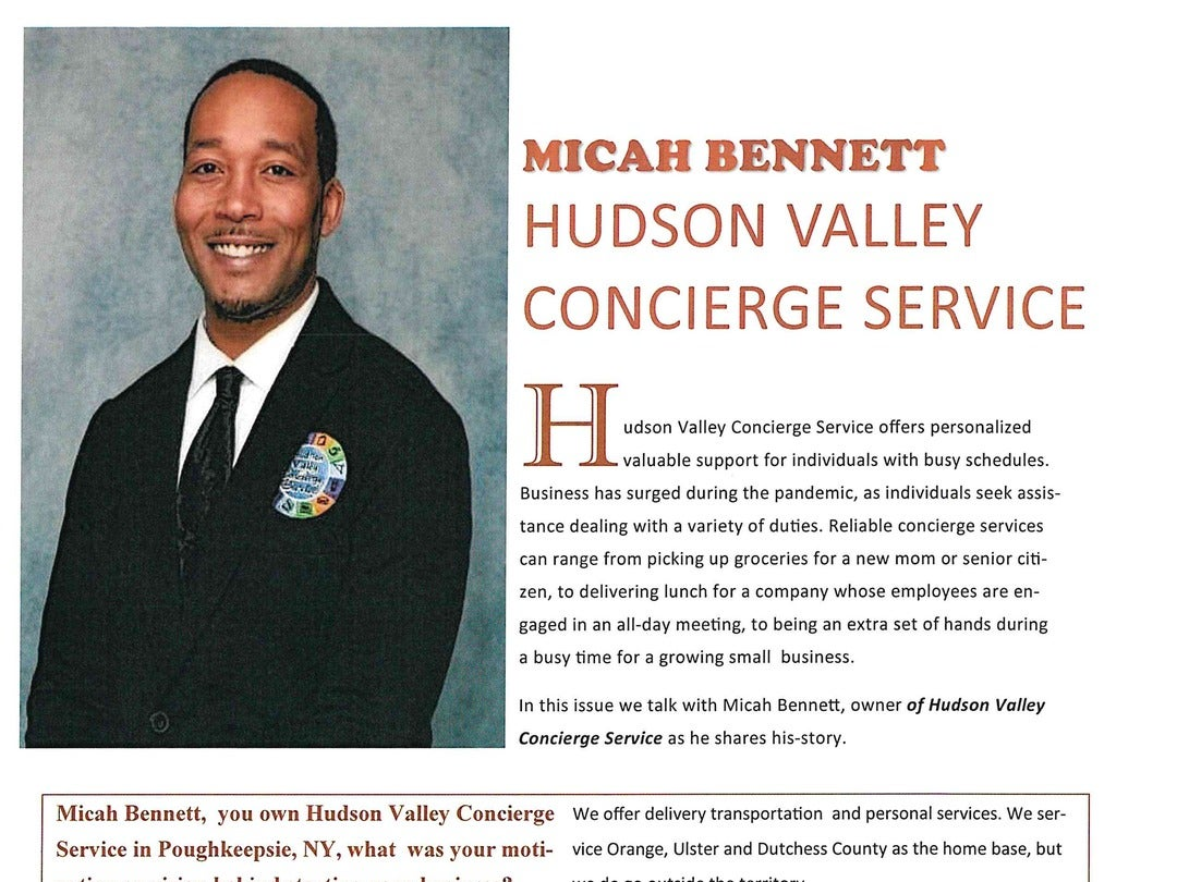 Page 10 of SPMG Media PEOPLE Magazine - Micah Bennett with Hudson Valley Concierge Service