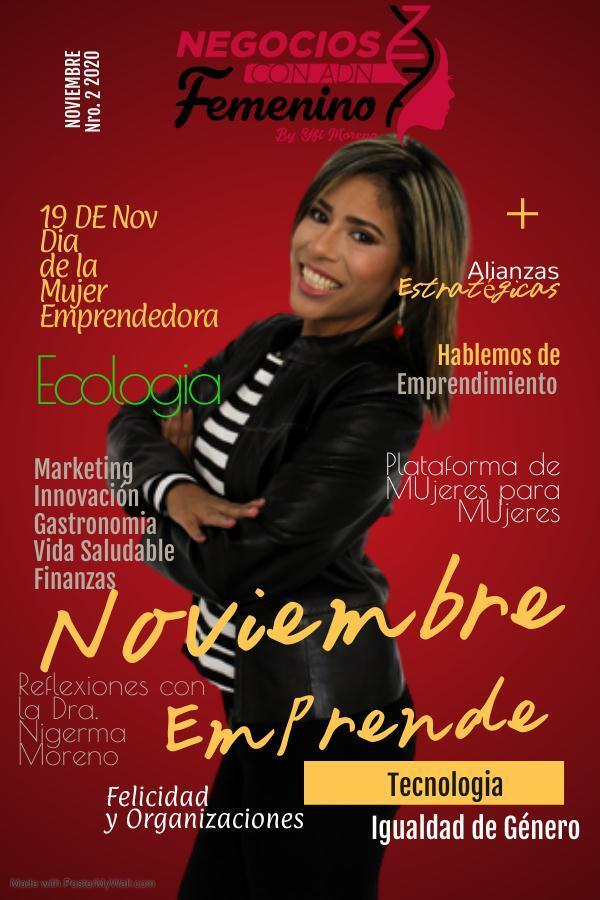 Page 1 of Negocios con ADN Femenino. No. 02. Noviembre 2020