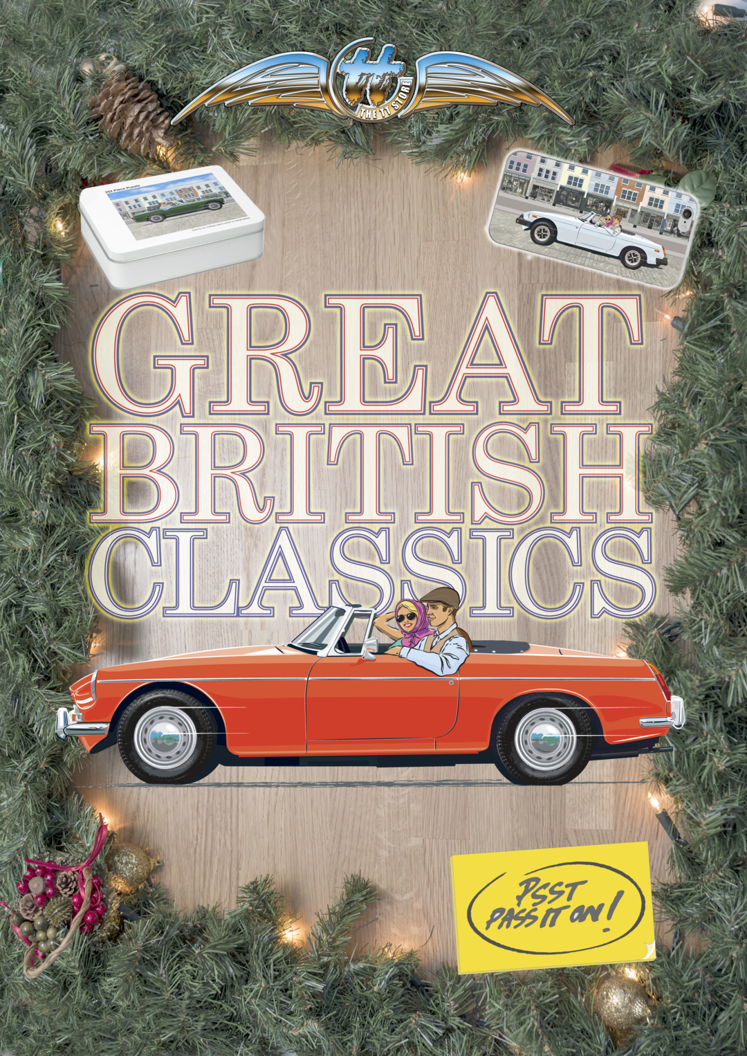 Page 1 of Great British Classics – hand drawn classic cars