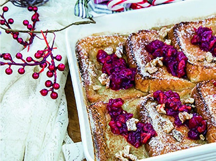 Read story: Breaking Bread: Overnight Walnut French Toast with Cranberry Walnut Ginger Compote