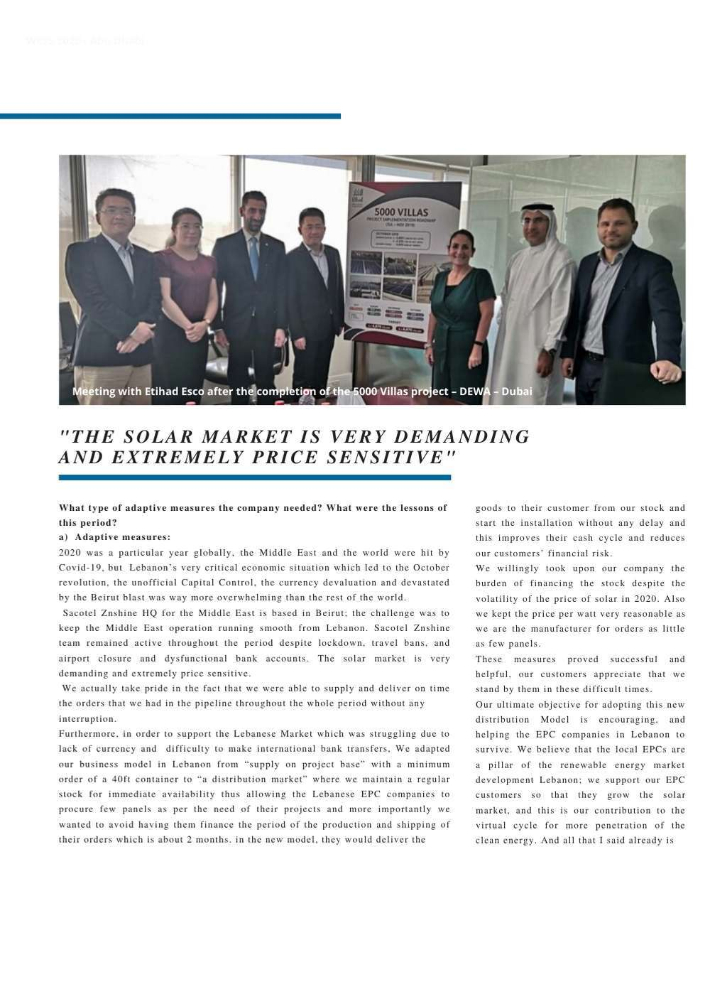 """Page 42 of """"The solar market is very demanding and extremely price sensitive"""""""
