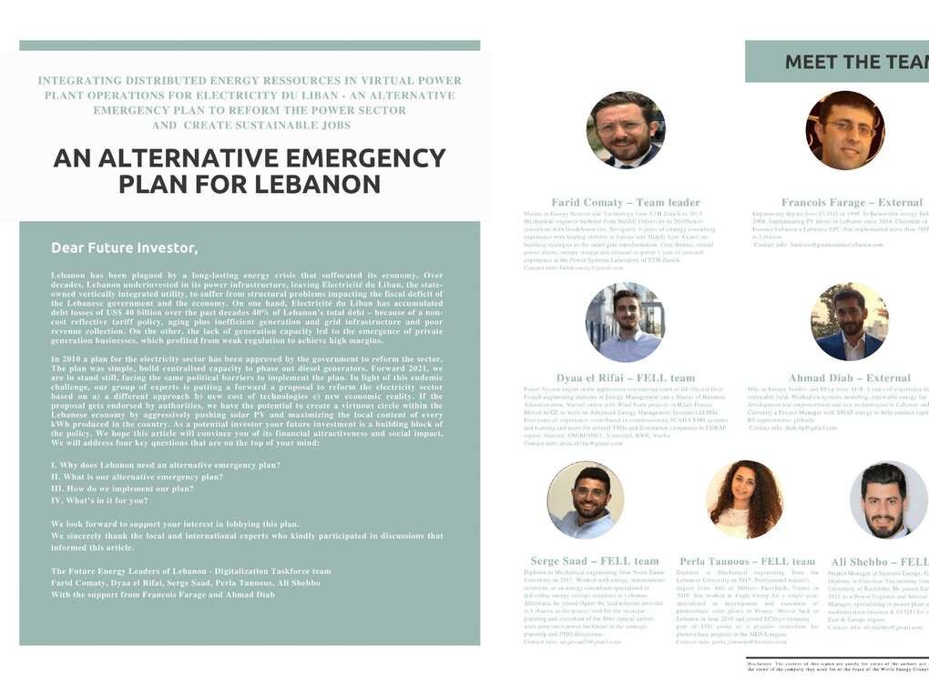 Page 60 of Alternative Emergency Plan for Lebanon