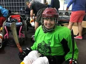Page 12 of Ashley Caveda - No Legs Needed -          A New Athlete's Intro to Adaptive Hockey