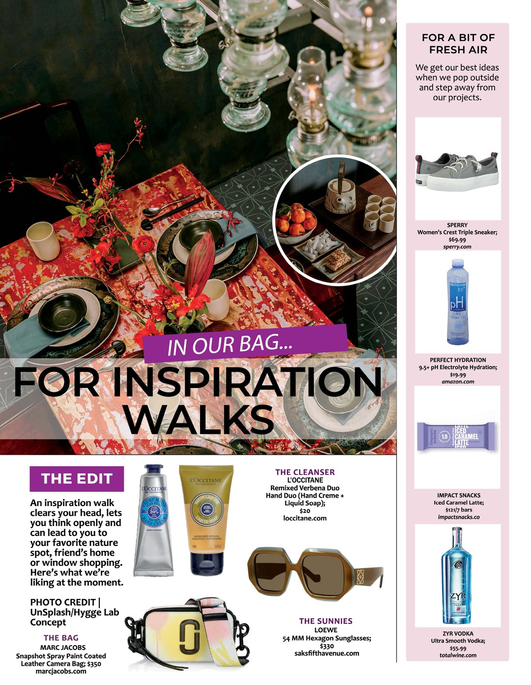 Page 98 of Athleisure Mag #62 Feb 2021 | In Our Bag - For Inspiration Walks