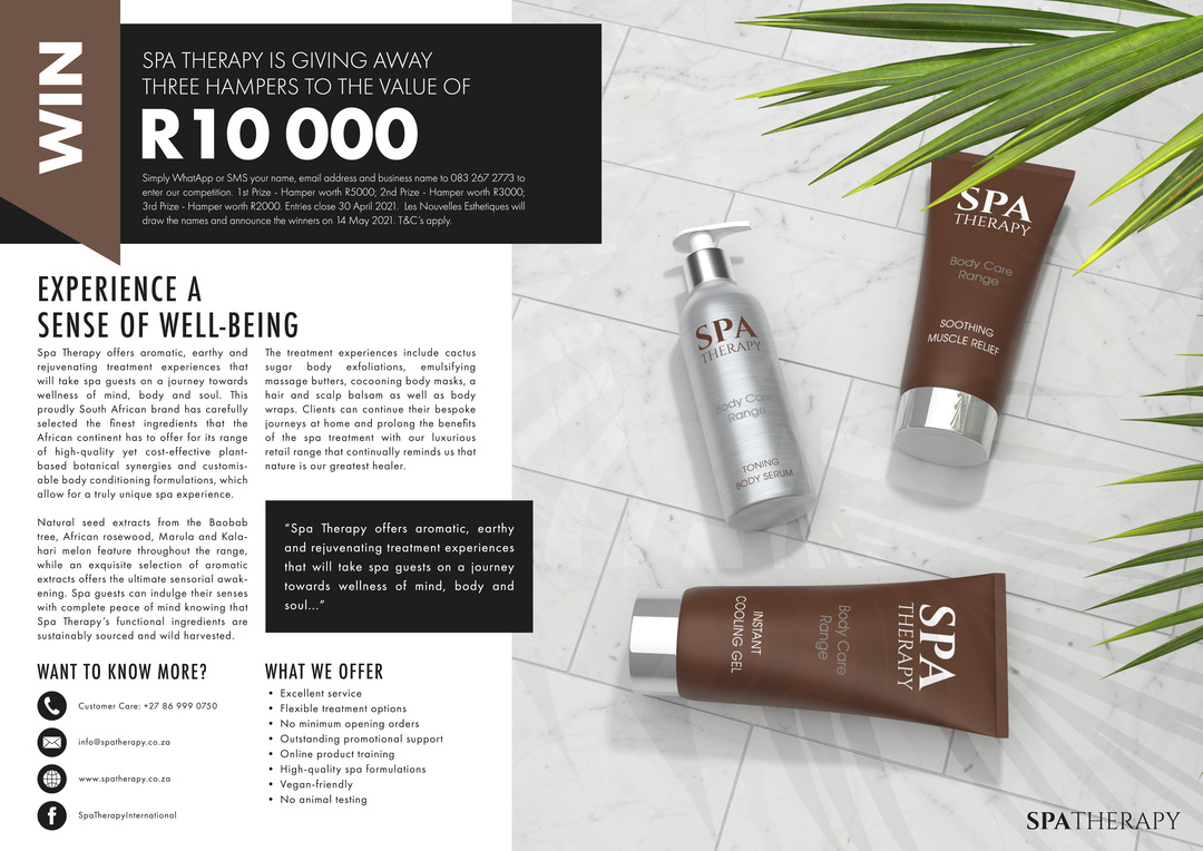 Page 12 of Les Nouvelles South Africa Spa Magazine Issue#78 2021