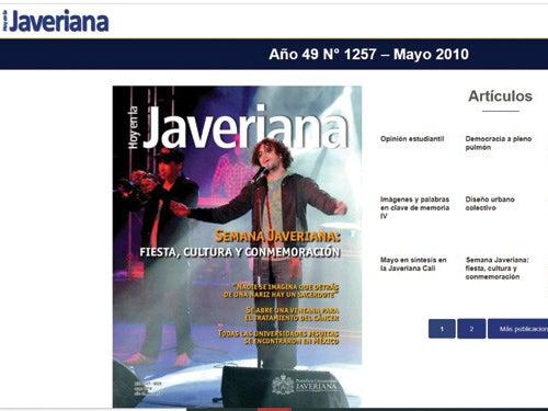 Page 9 of Llegó el Hoy en la Javeriana digital