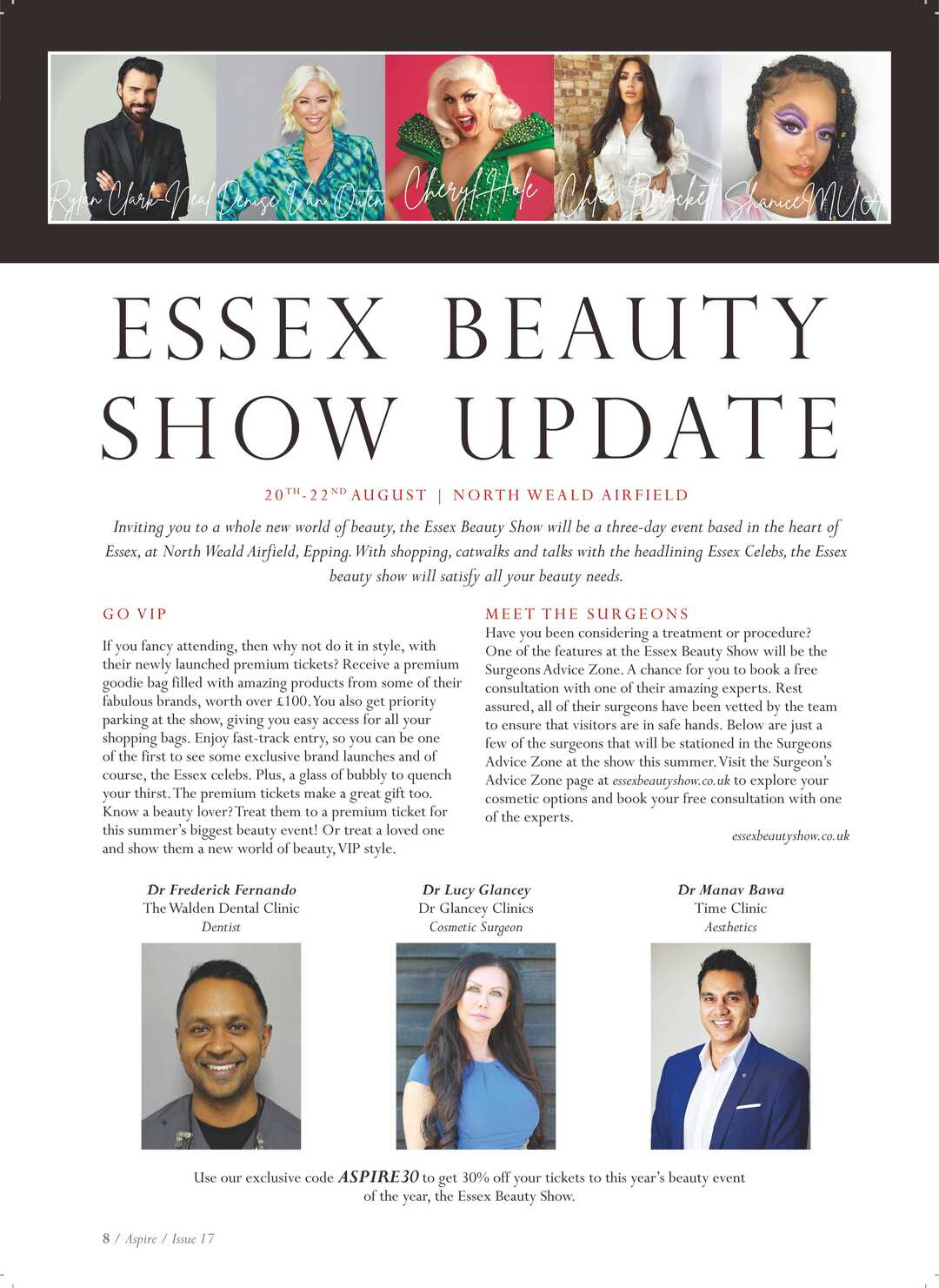 Page 8 of Essex Beauty Show Update
