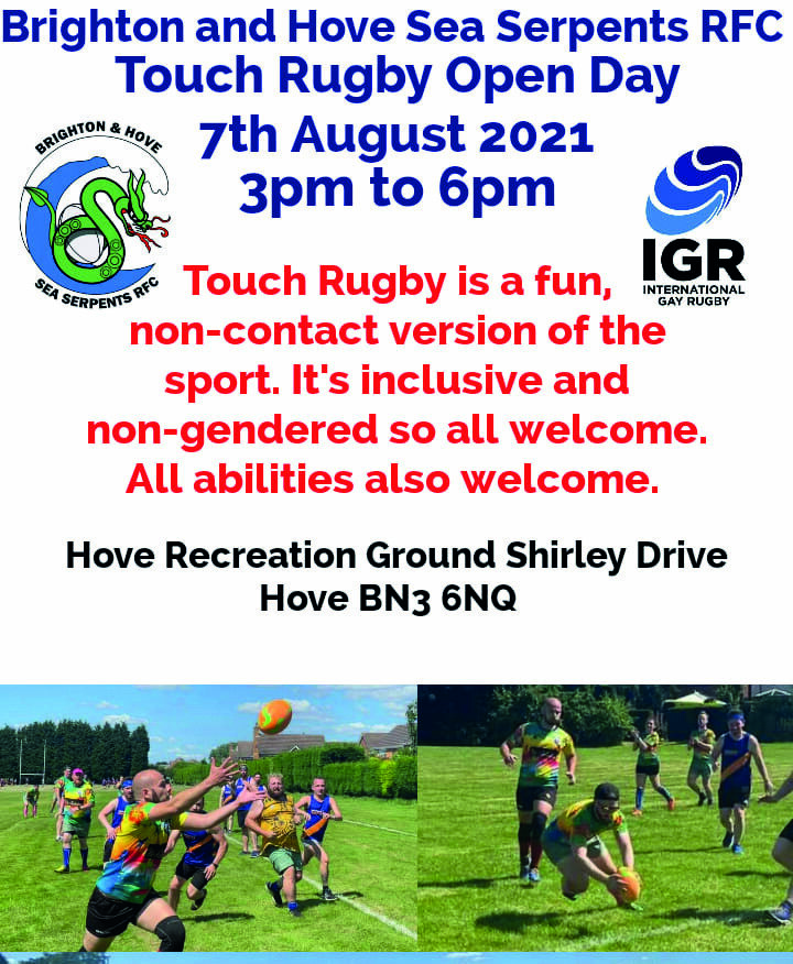 Page 6 of Brighton & Hove Sea Serpents announces touch rugby open day