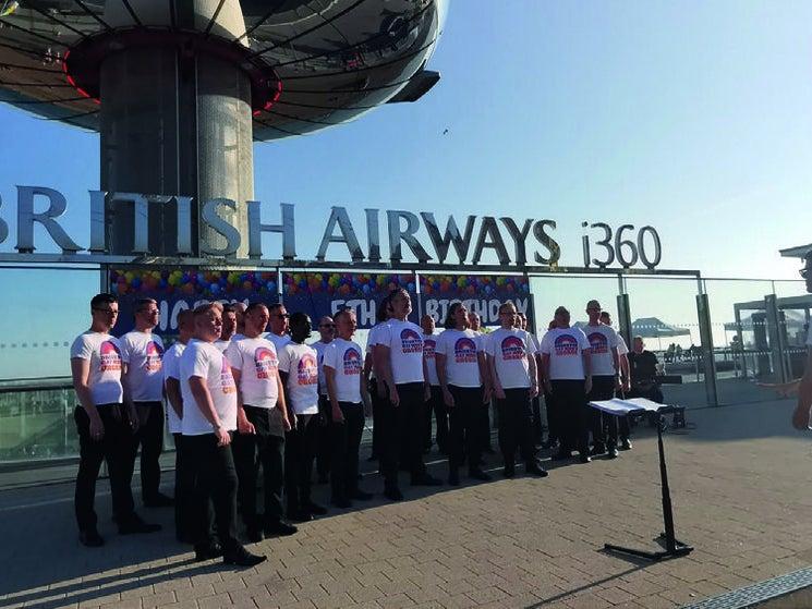 Page 6 of Brighton Gay Men's Chorus return to performing at i360's fifth Birthday