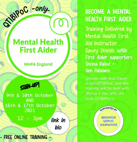 Page 11 of Free QTIBIPoC Mental Health First Aid Training course